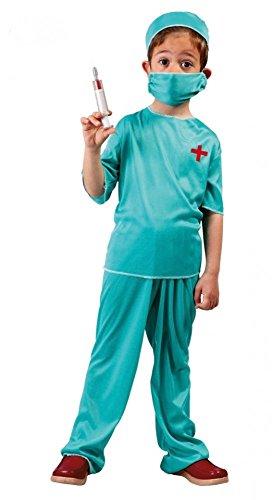 shoperama Arzt Kostüm für Kinder 4-teilig Chirurg Doktor Doc Jungen Mädchen Kinderkostüm , Kindergröße:152 - 10 bis 12 ()