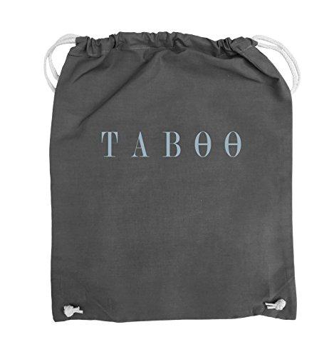 Comedy Bags - TABOO - LOGO - Turnbeutel - 37x46cm - Farbe: Schwarz / Pink Dunkelgrau / Eisblau