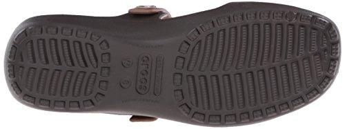 Crocs Crocs Coretta Sandal, Sandales Bout ouvert femme Marron (Espresso/Bronze)