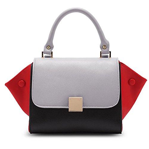 fanhappygo Fashion Retro Leder Damen elegant Flügel Handtaschen Umschlag Schulterbeutel Umhängetaschen Abendtaschen schwarz
