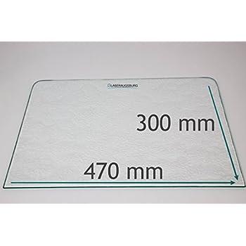 Kühlschrank Einlegeboden Klarglas Glas Ersatzscheibe 475x300 mm