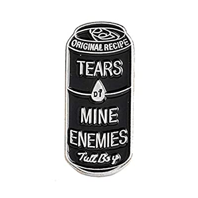 Bangle009 Clearance Sale Women Men Can Shape Enamel Tears of Mine Enemies Lapel Button Pin Badge Brooch : everything five pounds (or less!)