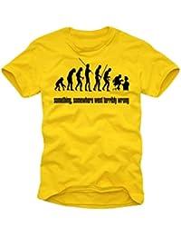 somthing, somewhere ...Gelb/schwarz T-Shirt S-XXL