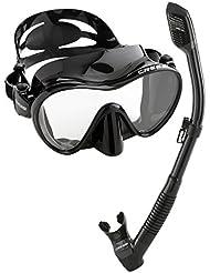 Cressi - Set de gafas y tubo de buceo, Negro.