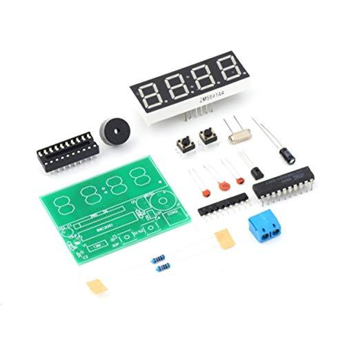 Wafalano Uhr-Produktions-Suite, YSZ-4 3V-6V C51 4 Bits Digital-elektronische Taktgeber-elektronische Produktions-Suite, DIY Installationssatz-Zwei Alarm-Einstellungen Gesamtzeitpunkt