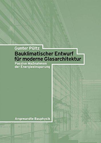 Bauklimatischer Entwurf für moderne Glasarchitektur: Passive Maßnahmen der Energieeinsparung: Passive Mabetanahmen Der Energieeinsparung