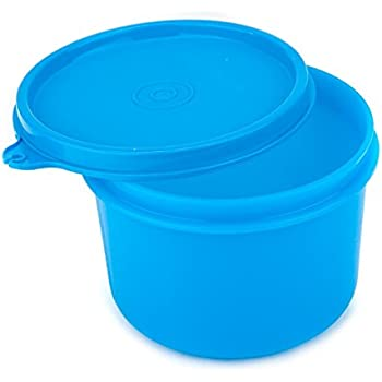 Signoraware Executive Round Big Plastic Container, 450ml, T Blue