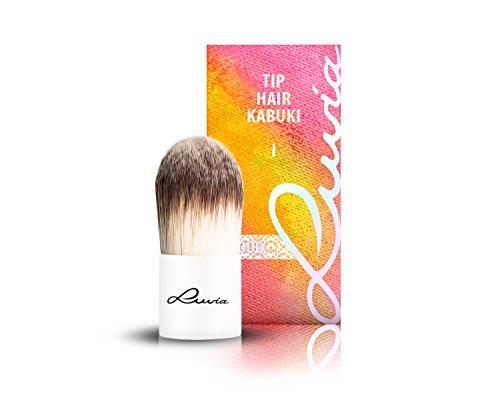 Luvia Cosmetics – Le Jour – I - Tip Hair Kabuki – Make Up Kosmetikpinsel Kabuki im elegantem Weiss - Liebevoll und Traditionell Handgefertigt – Vegan