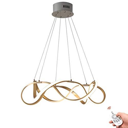 Lampada a Sospensione a LED Lampada da soffitto dimmerabile Lampadario Creativo Lampada a Sospensione Anelli ad Altezza Regolabile Cucine Lampada a Sospensione Lampada Design for Soggiorno Lampada da
