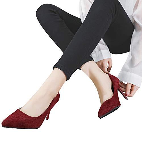 wholesale dealer cb2c0 ffbf9 LIN Liquidation Aiguille Escarpins Femmes Flock Pointues Cheville Party Wed  Toe Chaussures à Talons