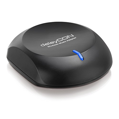 deleyCON Bluetooth Streaming Empfänger / Receiver / Adapter - analoger 3,5mm Klinken Ausgang - Musik Empfänger für Hi-Fi Stereoanlage/Lautsprecher -