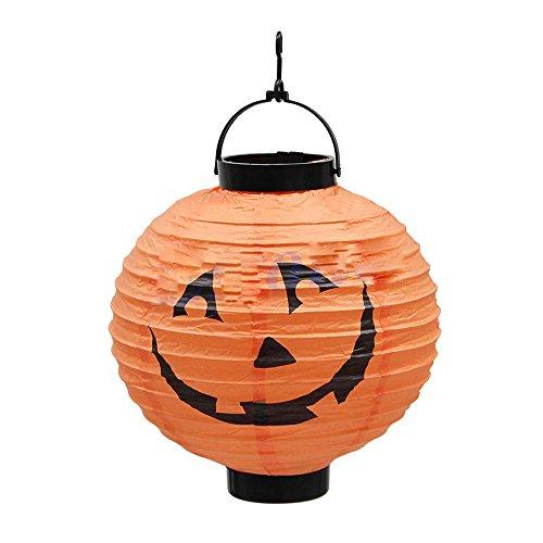HUAYANG Runde Klapp Kürbis Form Papierlaterne für Halloween Festival Partei Dekor Requisiten - Kürbisse Halloween-dekor
