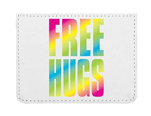 Hugs Rainbow Letters Hippies Cool Phrases Thoughts Fonts Lettering Taschenformat Kreditkartenetui (Herr Luke Valentine)