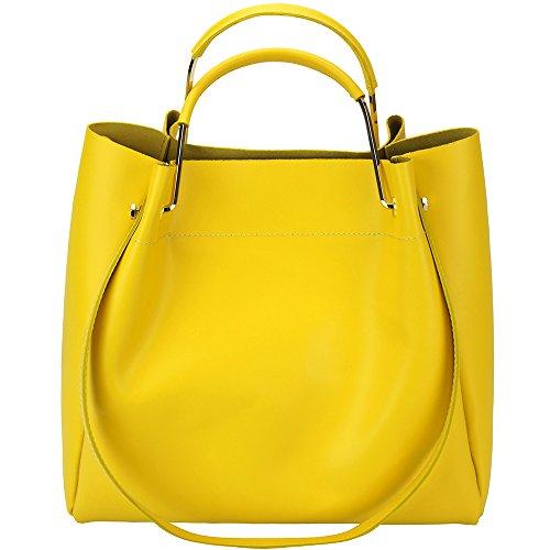 Borsa Eleonora - 8051 - Borse in pelle - borse da donna Giallo
