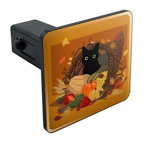 (Graph & More Thanksgiving Abdeckung für Anhängerkupplung, Schwarze Katze, versteckt in Cornucopia mit Kürbiss, Anhängerkupplung, Steckereinsatz, 3,8 cm (3,8 cm))