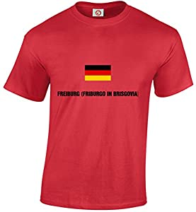 T-shirt Freiburg (friburgo in brisgovia) Red