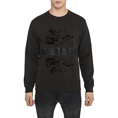 Felpe Moda Designer da Uomo, Felpa Stile Rock, Nera con Stampa Grafica, 3D - DARK SOULS - 100% Cotone Jersey, Girocollo, Maniche lunghe, Regular Fit, Tops Cool Urban Fashion per Uomo S M L XL XXL