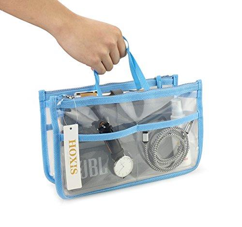 Tasche mit transparentem Einsatz Handtasche Organiser Kosmetiktasche Travel Organizer, groß, - set of 2 - Größe: Medium