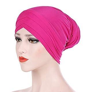 Warm Winter Hat 2019, Women Ponytail Messy Bun Beanie, Women India Hat Muslim Solid One Tail Chemo Beanie Scarf Turban Warm Wrap Cap A4