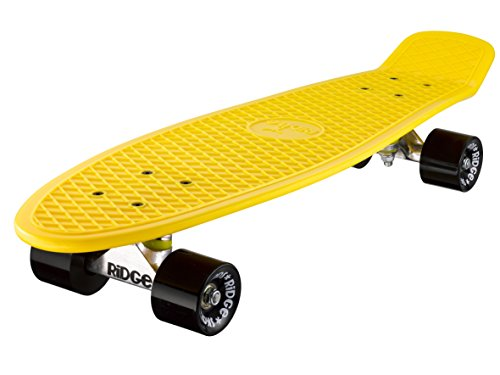 Ridge Skateboard Big Brother Nickel 69 cm Mini Cruiser, gelb/schwarz