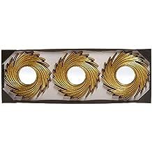 dcasa - Espejos de pared modernos dorados para decoración Sol Naciente