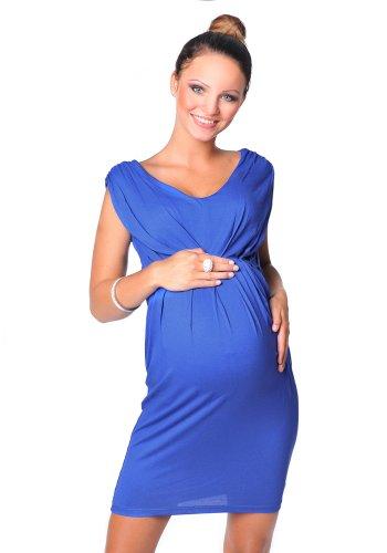 Royal Blau Formale Kleider (Purpless Damen Umstandskleid Schwangerschaft Cocktail-Kleid Knielang Ärmellos 8437 (46, Royal Blue))