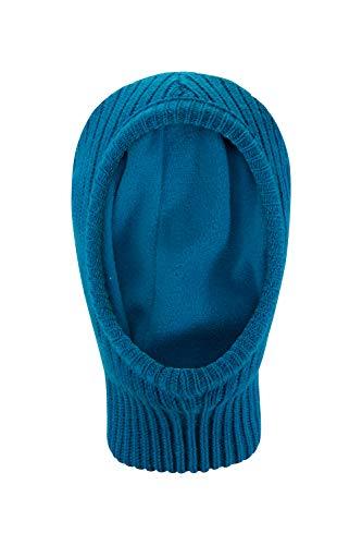 Mountain Warehouse Gestrickte Sturmhaube für Kinder - Mit Fleece gefütterte Winter-Ski-Maske, Gesichts- und Halswärmer, Bequeme Kopfbedeckung, Handwäsche - für Skifahren Petrolblau