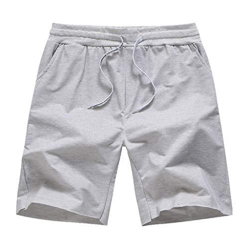 Sommer Herren Slim Sport Volltonfarbe Drawstring Open Bag Design Baumwolle Shorts Chanpion League DK08 Summer Slim Sport solid Color Drawstring Open Bag Design Cotton Shorts M/L/XL/XXL/3xL