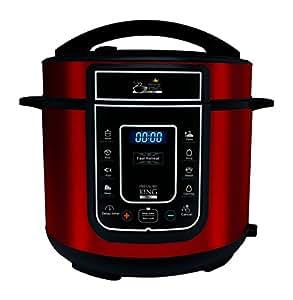 Pressure King Pro 5 Litre 12-in-1 Digital Electric Pressure Cooker, 900 W, Red