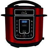 Red, 5 Litre: Pressure King Pro 5 Litre 12-in-1 Digital Electric Pressure Cooker, 900 W, Red