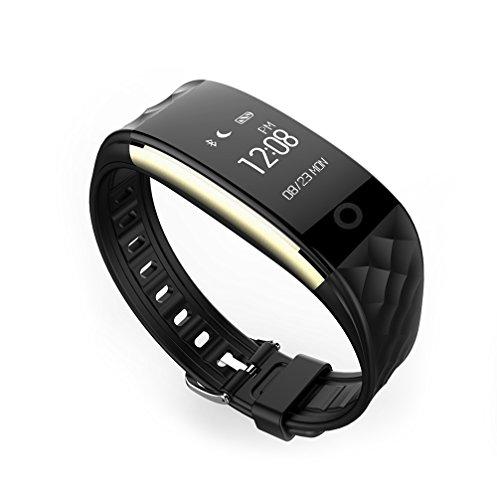 Fitness-Tracker, Smart-Armband-GesundheitsüBerwachung, Social Entertainment / Tracking / Alarmierung / Information Push / Smart Alerts / Schritt-ZäHlung / Sport-Tracking / Remote Self Portrait / Schlafanalyse / Mobile Positionierung / Dynamic Heart Rate Monitoring (schwarz)