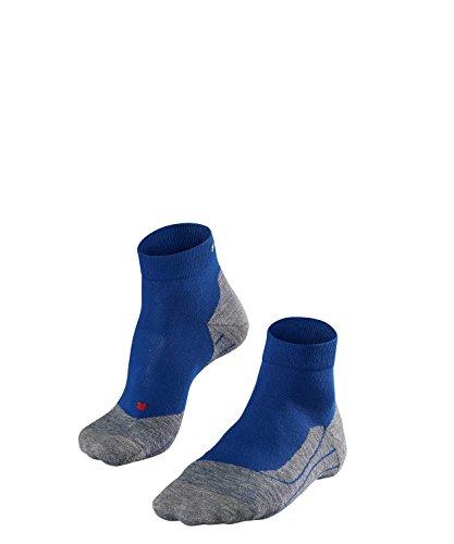FALKE Herren Socken Laufsocken RU4 Short - 1 Paar, Gr. 44-45, blau, feuchtigkeitsregulierend, Sportsocken Running
