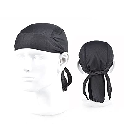 Cycling Cap Hat Breathable Skull Caps Cycling Bandana Running Beanie Bike Motorcycle Skull Cap Under Helmet Headband for Men Women by Collun