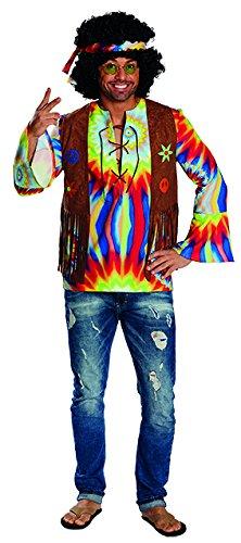 Herren Vintage Hippie Hemd (Hippie Hemd Herren Kostüm (54))