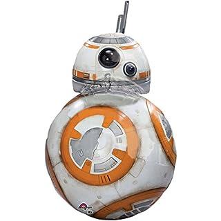 paduTec Ballon XXL Folienballon Luftballon - Star Wars Roboter BB8 - Geburtstag Kindergeburtstag Deko - geeignet zur befüllung mit Luft oder Helium Gas