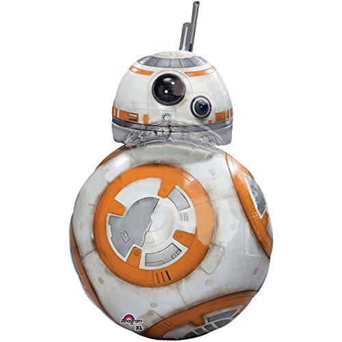 paduTec Heliumballon XXL Folienballon - Star Wars Roboter BB8 - Geburtstag Deko - mit Helium gefüllt