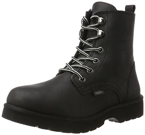 Buffalo London Damen 11855 Action Nubuck Stiefel, Schwarz (Black 01), 39 EU