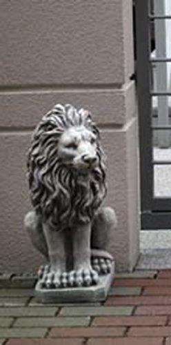 Löwe Blick links (S103055) Tierfiguren Steinfiguren Steinguss Gartenfigur 53 cm Defi Link