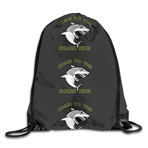 ZHIZIQIU Drawstring Bags Bulk Came to The Shark Side Cartoon Drawstring Backpack Bag Shoulder Bags Bag for Adult Size: 4133cm Bright Side Bag