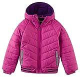 Wantdo Fille Manteau d'hiver à Capuche Veste Matelassée avec Rayures Réfléchissantes Rose 8