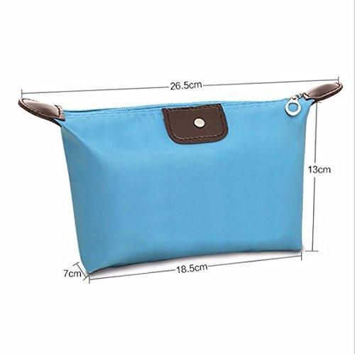 KAFEI Sac cosmétique couleur bonbon portable quenelles petit mignon incorporé,bleu royal