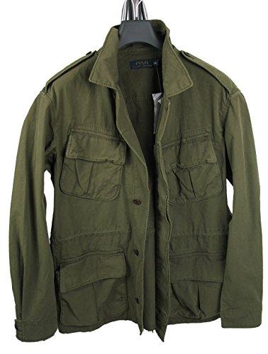 Ralph Lauren Jeans-jacke (RALPH LAUREN Military-Jacke DUNK DYE weathered olive JUNGLE JACKET (L))