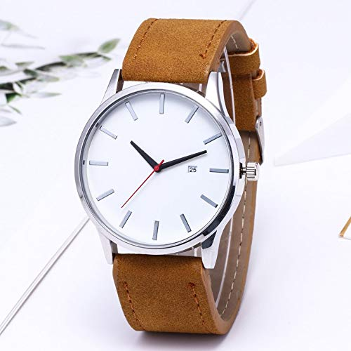 907064286 calendarSmall Exquisite Round Dial Casual Elegant Mans Wristwatches Fashionable  Band Fashion Grid Scale Male Watch