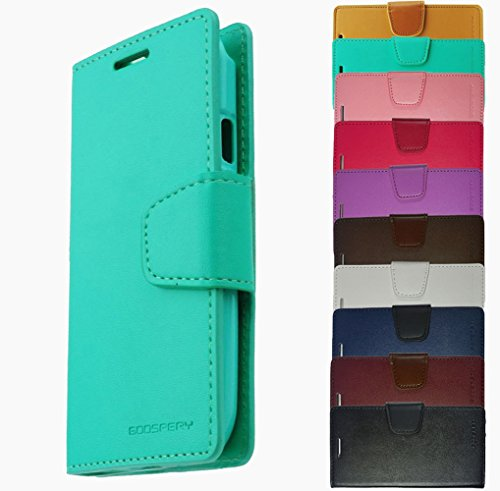 Für Apple iPhone Book Tasche Handy Hülle Etui Flip Cover Klapptasche iPhone 4 - 4s Braun Mint