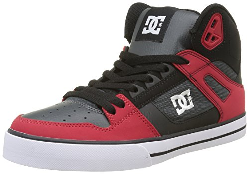 Rot Schuhe Dc-high-tops (DC Herren Spartan High WC Top, Rot (Red/Grey/Black-Xrsk), 42 EU)