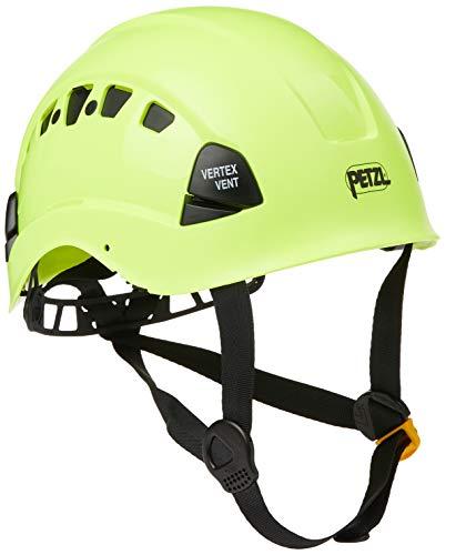 Petzl A10VYA HV VERTEX VENT Schutzhelm für Arbeiten in großer Höhe und für Rettungseinsätze, komfortabel, belüftet, gut sichtbar, Gelb
