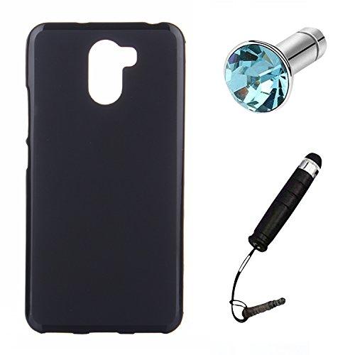 Lusee® Silikon TPU Hülle für Wileyfox Swift 2 / Wileyfox Swift 2 Plus Schutzhülle Case Cover Protektiv Silicone schwarz