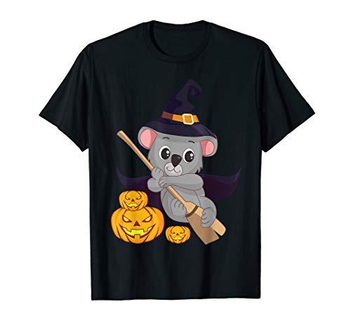 Niedliche Koala Bärn Hexe Halloween Kürbissteckfassung T-Shirt