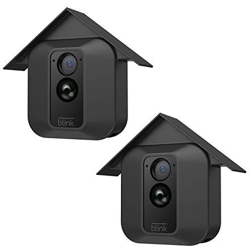BECROWMEU 2 pack Silikonhülle für Blink XT Kamera, Indoor / Outdoor Weather / Shock Proof Hülle für Blink XT Home Security-Kamerasystem Blendschutz UV-Schutz schwarz (Weather Cover)