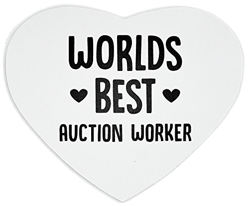 World's best Auction Worker heart mousepad